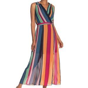 ECI colorblock stripe dress